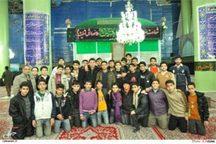 بازدید دانش آموزان مدرسه راهنمایی بحرالعوم استان قم از حرم مطهر امام راحل