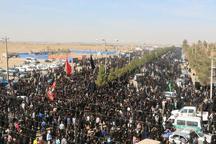 پیاده روی 60هزار نفری جاماندگان اربعین در سیرجان برگزار شد