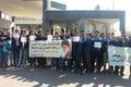 تجمع کارگران مجتمع متالوژی پودر در مقابل استانداری قزوین
