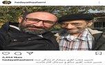 حسین محباهری با چهره ای تکیده در کنار بازیگر «پایتخت»+ عکس