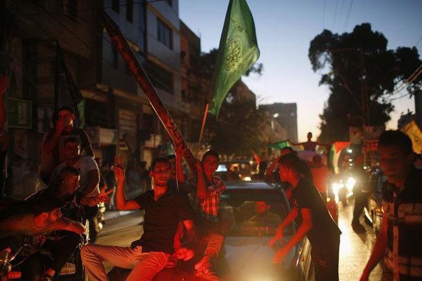 جشن و شادمانی در غزه+ تصاویر