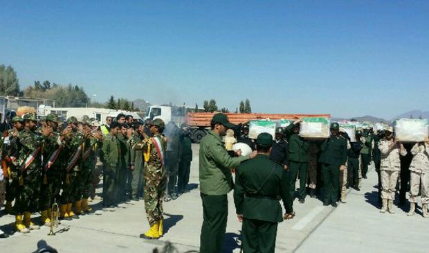 پیکر 27 شهید حادثه تروریستی زاهدان به اصفهان منتقل شد