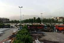 استفاده از دهها دستگاه اتوبوس برای انتقال جمعیت به مصلای تهران و ایجاد ترافیک سنگین در معابر