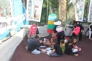 غرفه های ویژه کودکان ایرانی و عراقی در مسیر منتهی به کربلا