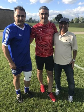 آخرین تمرین بازیکنان اسبق فوتبال ایران در تورنتو+ تصاویر