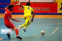 تیم فوتسال شاهین کرمانشاه مقابل آذرخش بندرعباس متوقف شد
