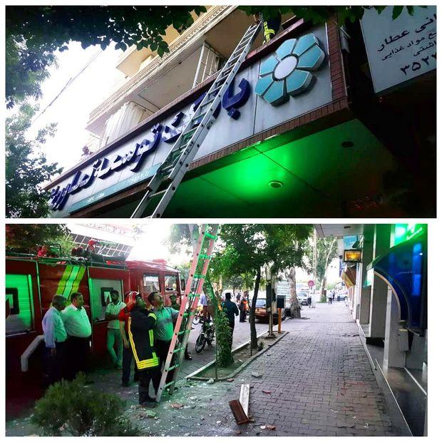 ریزش طاق تراس بانکی در تبریز