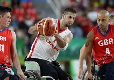 تیم ملی بسکتبال با ویلچر مقابل انگلیس شکست خورد