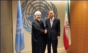 بان کی مون در دیدار با روحانی: ما خواهان حضور سازنده ایران در مبارزه با تروریسم هستیم