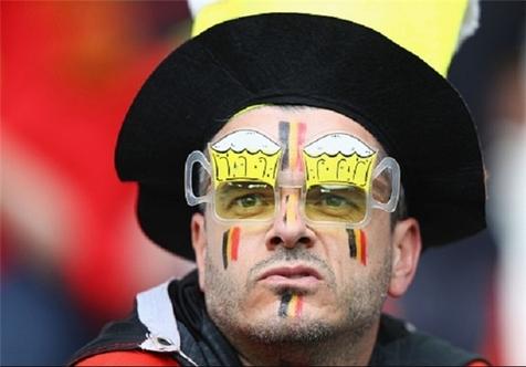 پوشش جالب هواداران ایرلند و بلژیک +تصاویر