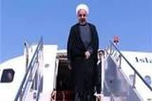 روحانی وارد خوزستان شد