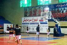 تیم بسکتبال نبوغ اراک برابر عقاب تهران پیروز شد