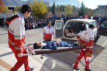 مانور زلزله در خرم آباد برگزار شد