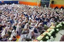 جشن تکلیف 1650 دانش آموز دختر در مراغه برگزار شد