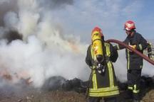 آتش نشانی مهاباد پارسال شعله های 394 حریق را خاموش کرد