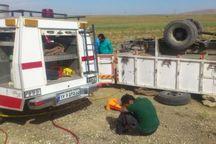 مرگ دلخراش جوان 25 ساله در همدان بر اثر واژگونی کامیون