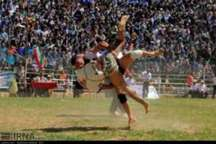 مسابقات کشتی باچوخه خراسان رضوی در باخرز برگزار شد