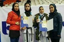 کسب 2 نشان تکواندوکاران قزوینی در مسابقات امیدهای بانوان کشور