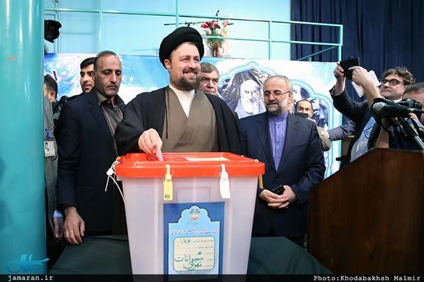 فیلم/ حضور یادگار امام در انتخابات