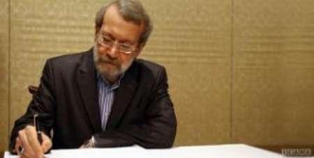 لاریجانی پیروزی مقاومت را تبریک گفت