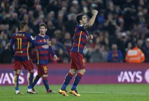 صعود بارسلونا به نیمه نهایی کوپا دل ری