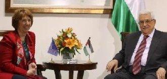 از سرگیری مذاکرات صلح بین محمود عباس و اشتون