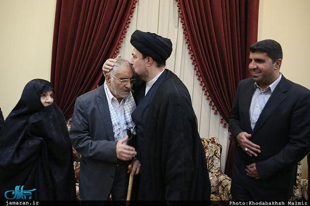 اعضای خانواده شهید فهمیده با سید حسن خمینی دیدار کردند