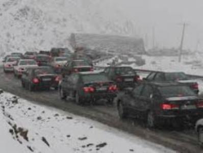 بارش برف درمحورهای شمالی استان تهران