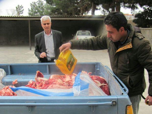 340 کیلو گرم گوشت غیر بهداشتی در سبزوار معدوم شد