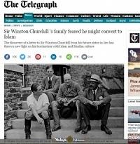 دیلی تلگراف: هراس خانواده چرچیل از احتمال مسلمان شدن او! + تصویر مکاتبات