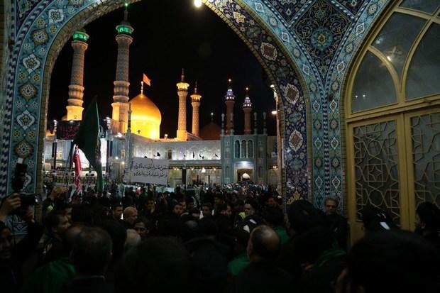 قم در شب شهادت ثامن الحجج(ع) به سوگ نشست