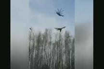 بالگرد روسی در حال انتقال هواپیما !