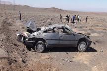 واژگونی خودرو در قزوین یک کشته برجای گذاشت
