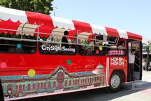 رونمایی از نخستین اتوبوس گردشگری در همدان