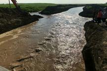 کانال انحراف آب در شمال آق قلا بازگشایی شد