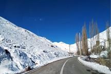 بارش برف پاییزی ارتفاعات تکاب را سفیدپوش کرد