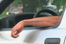 سایه خالکوبی بر روی گواهینامه رانندگی
