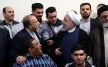 تصاویر دیدار روحانی با تیم ملی والیبال نشسته
