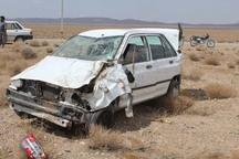 واژگونی پراید درمنطقه مرزی گنبدکاووس پنج مصدوم برجا گذاشت