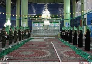 اولین مراسم تحلیف بسیجیان در حرم مطهر حضرت امام خمینی(س) برگزار شد