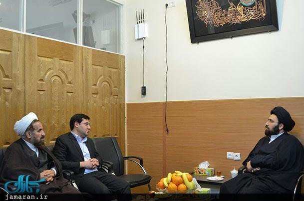 دیدار رئیس شورای شهر یزد با حجت الاسلام و المسلمین سید علی خمینی