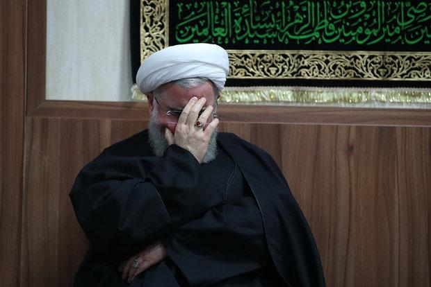 برگزاری مراسم سوگواری با حضور روحانی و اعضای هیات دولت