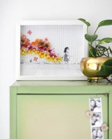 تجربه ساخت قابی با گل های خشک + تصاویر