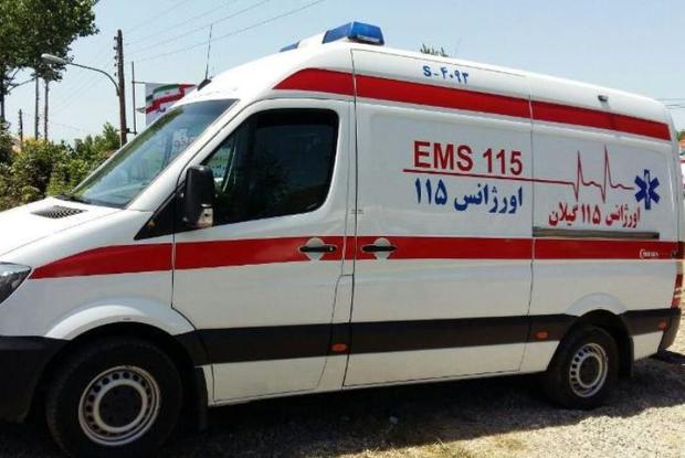 امدادرسانی اورژانس به هشت کارگر در رودبار