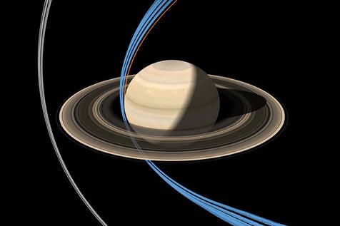 فضاپیمای کاسینی برای نخستین بار وارد حلقه های زحل شد