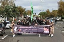 مردم آستارا در سوگ پیامبر اسلام عزاداری خیابانی کردند