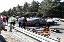تصادف شدید تویوتا با گاردیل در اتوبان چمران  و فوت یک زن جوان