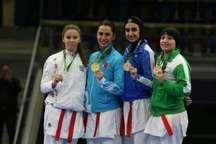 بانوی کاراته کا کرمانشاهی مدال برنز بازی های همبستگی کشورهای اسلامی را کسب کرد