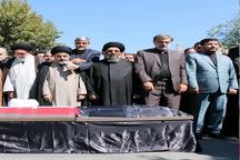 پیکر امام جمعه سابق سلماس تشییع شد