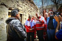 بازدید رئیس جمعیت هلال احمر از روستاهای سیل زده آذربایجانشرقی